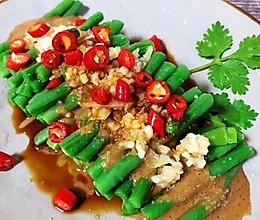 蒜泥麻酱拌豇豆,爽口小凉菜的做法