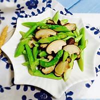 #一人一道拿手菜#芦笋炒蘑菇的做法图解12