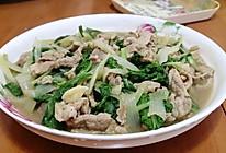 小白菜炒瘦肉的做法