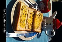 蒜香烤面包片的做法