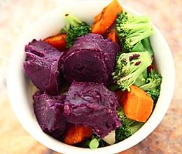 超简单减脂健身素餐的做法