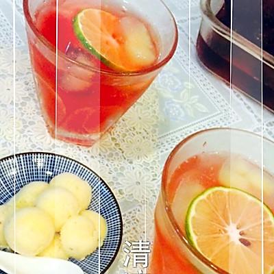 五彩水果冰饮—夏季必备之