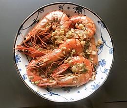 #餐桌上的春日限定#蒜蓉黑虎虾的做法