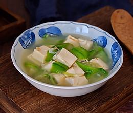 虾皮丝瓜豆腐汤的做法