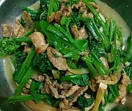 猪肉炒南瓜藤的做法