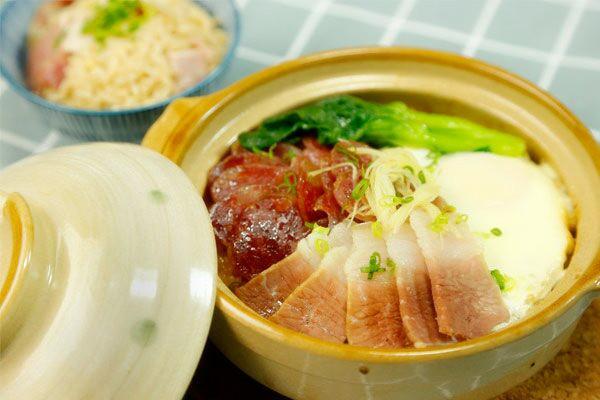 做一份黯然销魂饭 好吃到流泪——腊味煲仔饭【微体兔菜谱】的做法