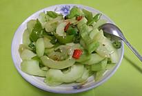 乐乐自家菜--素炒黄瓜片的做法