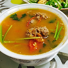 西红柿牛肉丸子汤