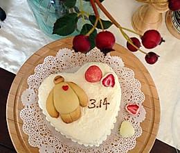 暖暖的大白·白色情人节蛋糕的做法