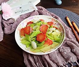 清炒西芹百合胡萝卜的做法