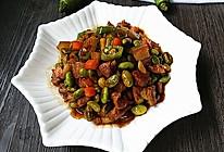 杭椒毛豆米小炒肉的做法