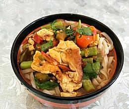 西红柿豆角鸡蛋捞面条(小布版)的做法