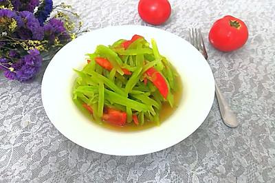 #爽口凉菜,开胃一夏!#凉拌番茄莴笋