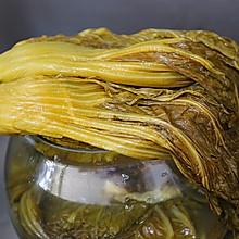 自制腌酸菜做法---附酸菜炒鸡胗