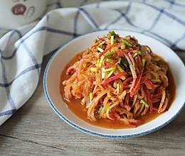 凉拌萝卜丝-开胃小菜的做法