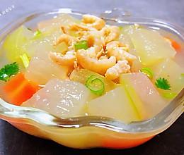#好吃不上火#冬瓜虾米汤的做法