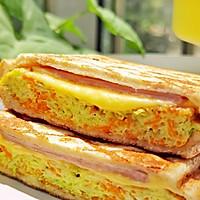#全电厨王料理挑战赛热力开战!#万物皆可压的早餐机搞定三明治的做法图解8