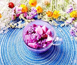 #换着花样吃早餐#养生【紫薯山药粥】的做法