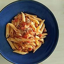 浓香芝士番茄肉酱空心粉意面