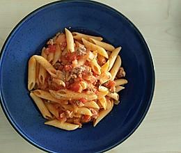 浓香芝士番茄肉酱空心粉意面的做法