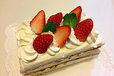 草莓季的草莓蛋糕