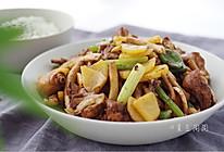 茶树菇干锅鸡的做法