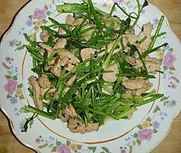 香菜炒肉丝的做法