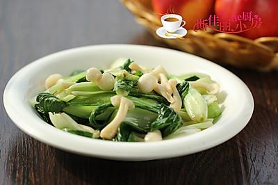 白玉菇炒小白菜#豆果6周年生日快乐#