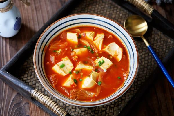 韩式泡菜豆腐汤的做法