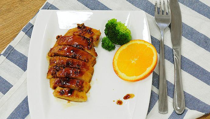 一食半刻   香蒜蜂蜜煎鸡扒