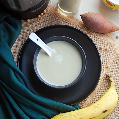红薯香蕉杏仁豆浆,口感味道都很棒