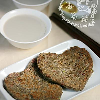 黑豆浆&黑豆培根饼