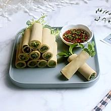 开胃凉菜——【绿蔬千张卷】