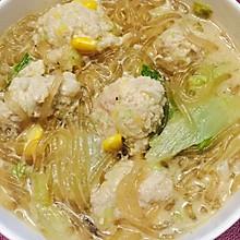 白菜粉丝肉丸汤