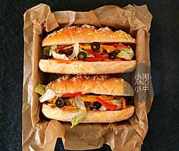 营养早餐燕麦牛排三明治的做法