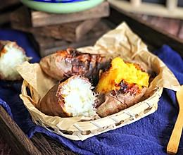 #今天吃什么#自己在家就可以做流糖浆的烤红薯的做法