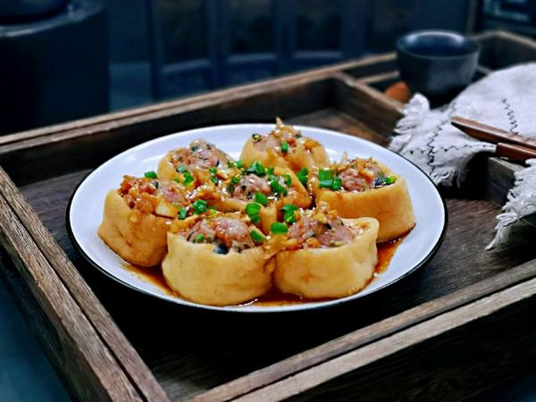油豆腐酿肉糜的做法