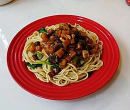 蒜辣酱面素三鲜的做法