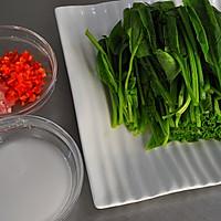 肉末菠菜的做法图解1
