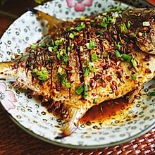 烤香辣金鲳鱼