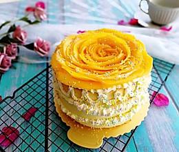#春季食材大比拼#芒果花生日蛋糕的做法