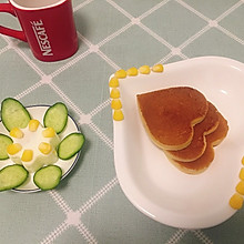 香蕉牛奶鸡蛋饼(早餐4)