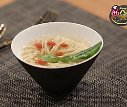 菊花豆腐汤——《茜你一顿饭》最美素斋的做法