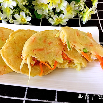 西葫芦丝饼~快手早餐饼