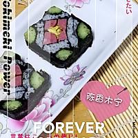 花样寿司---方型火腿花瓜鸡蛋卷的做法图解8