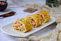 虾仁蛋卷#柏翠辅食节-营养佐餐#的做法