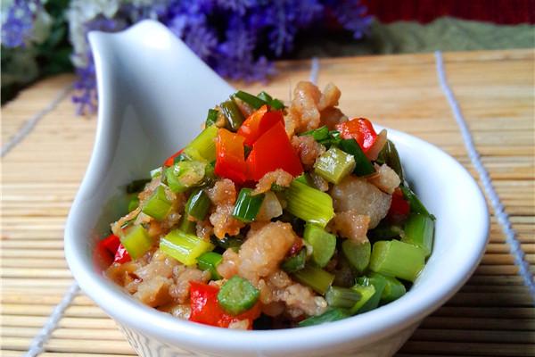 韭菜肉末的做法