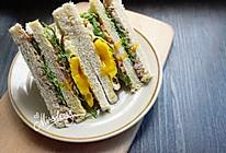 低脂快手早餐_全麦金枪鱼三明治的做法