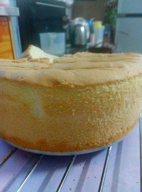8寸戚风蛋糕(普通面粉)的做法