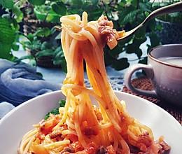 番茄肉酱意面 完胜西餐厅的做法